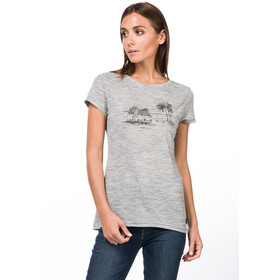 super.natural Print T-Shirt Femme, ash melange/killer khaki beach print